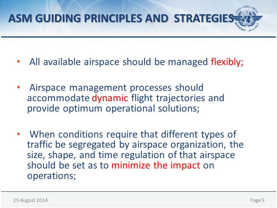 ASM GUIDING PRINCIPLES AND STRATEGIES