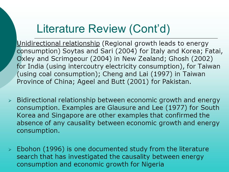 Literature Review (Cont'd)