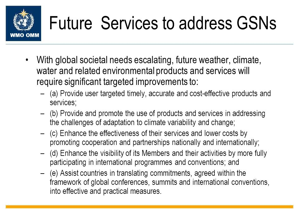 Future Services to address GSNs