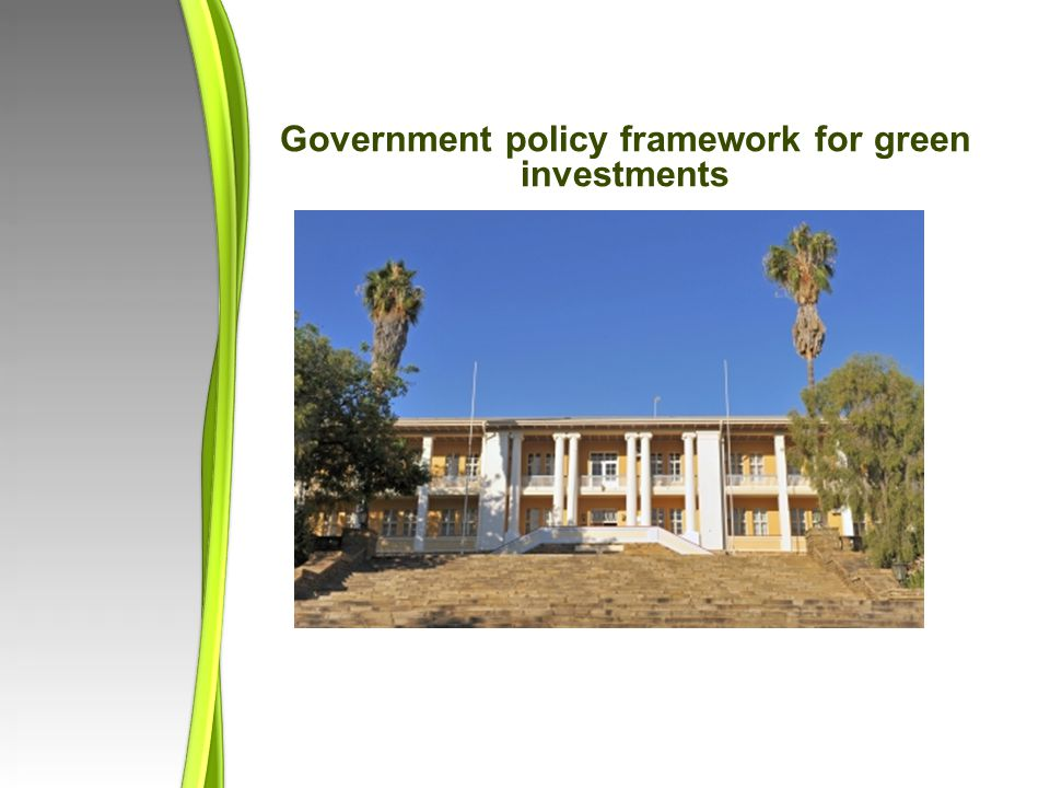 Government policy framework for green investments