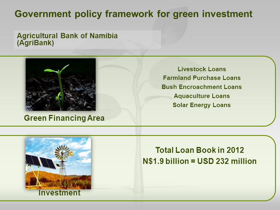 Government policy framework for green investment