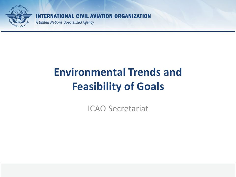 Environmental Trends and Feasibility of Goals