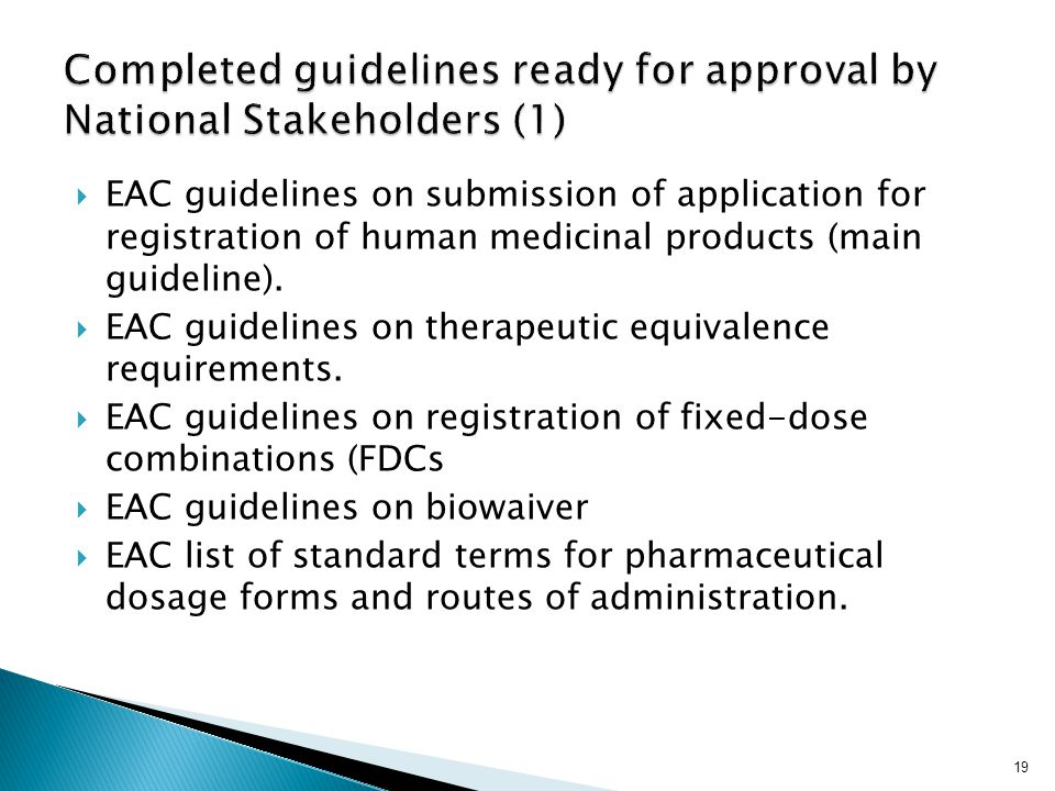 Completed guidelines ready for approval by National Stakeholders (1)