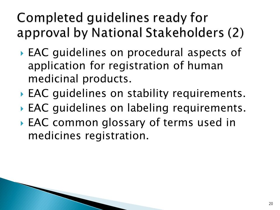 Completed guidelines ready for approval by National Stakeholders (2)