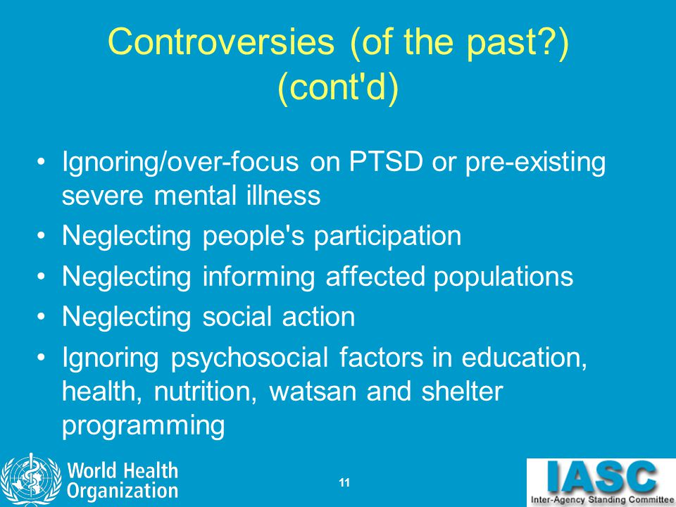 Controversies (of the past ) (cont d)