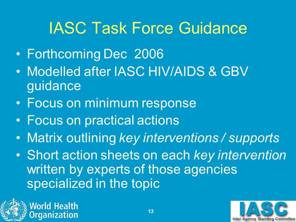 IASC Task Force Guidance