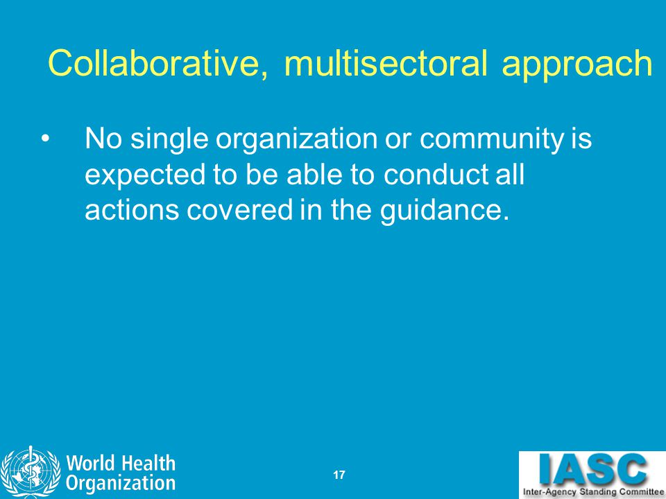 Collaborative, multisectoral approach