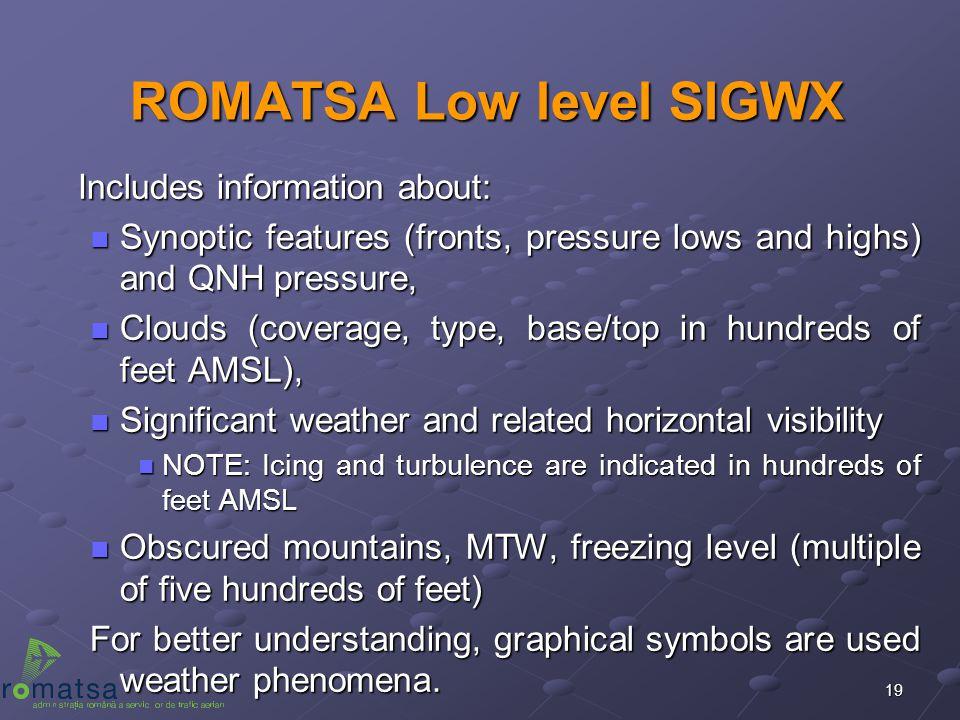 ROMATSA Low level SIGWX