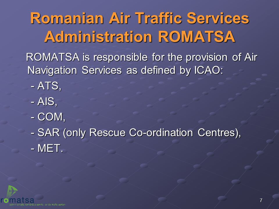 Romanian Air Traffic Services Administration ROMATSA