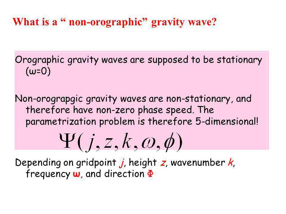 What is a non-orographic gravity wave