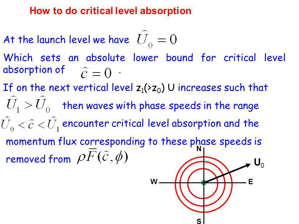How to do critical level absorption