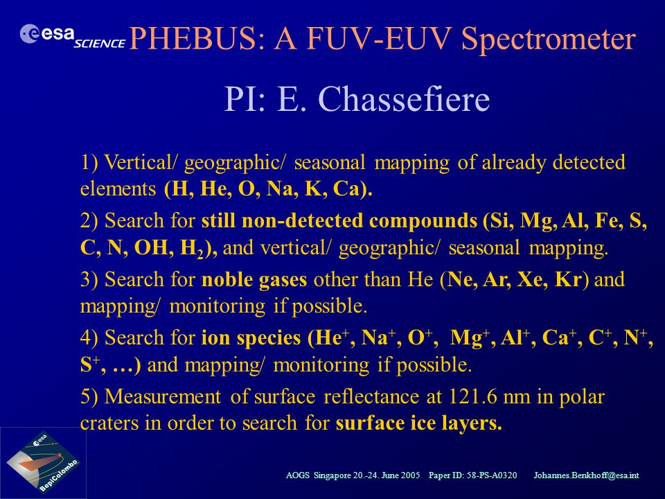 PHEBUS: A FUV-EUV Spectrometer
