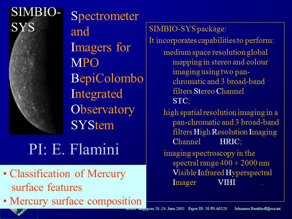 PI: E. Flamini SIMBIO-SYS