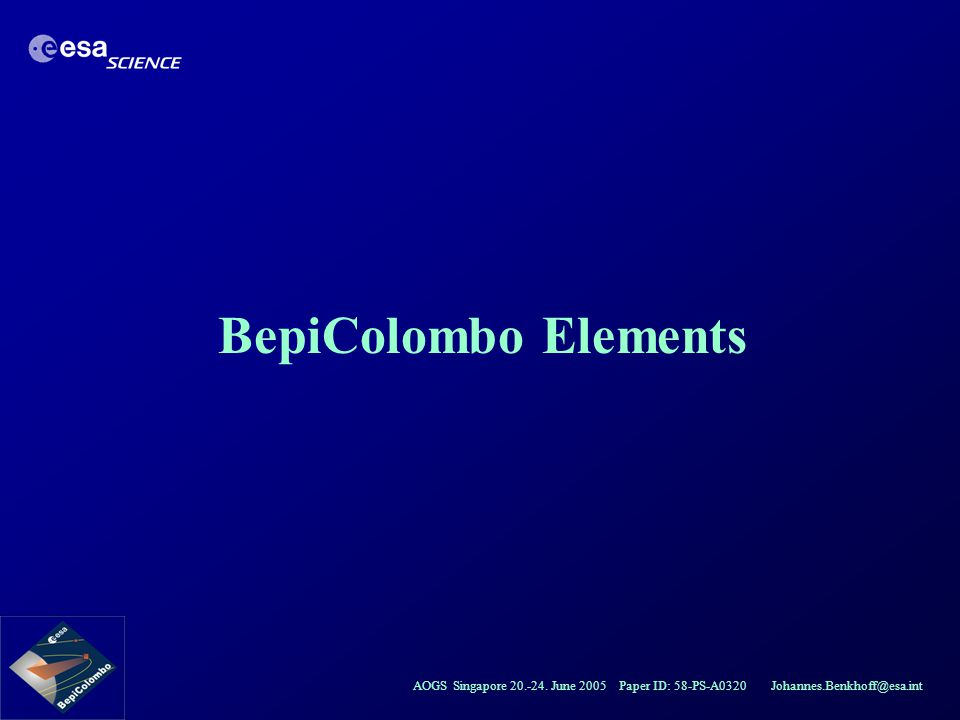 BepiColombo Elements