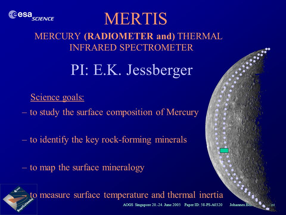 MERCURY (RADIOMETER and) THERMAL INFRARED SPECTROMETER