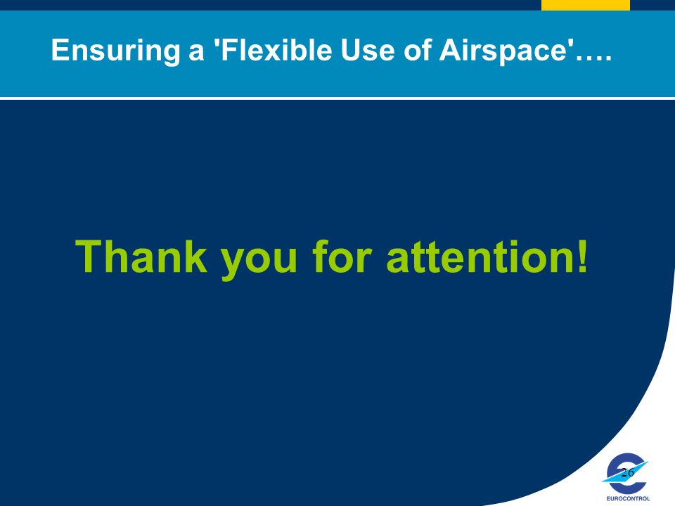 Ensuring a Flexible Use of Airspace …. Thank you for attention!