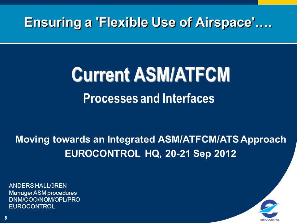 Ensuring a Flexible Use of Airspace ….