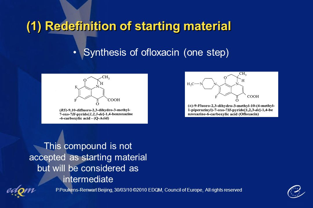 (1) Redefinition of starting material