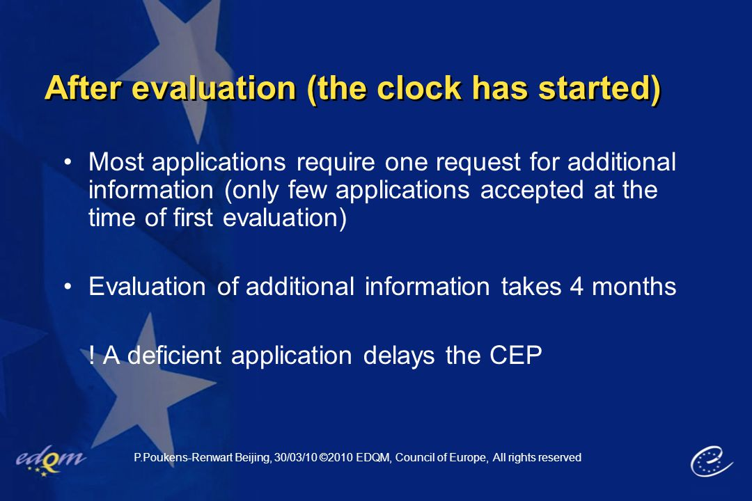 After evaluation (the clock has started)
