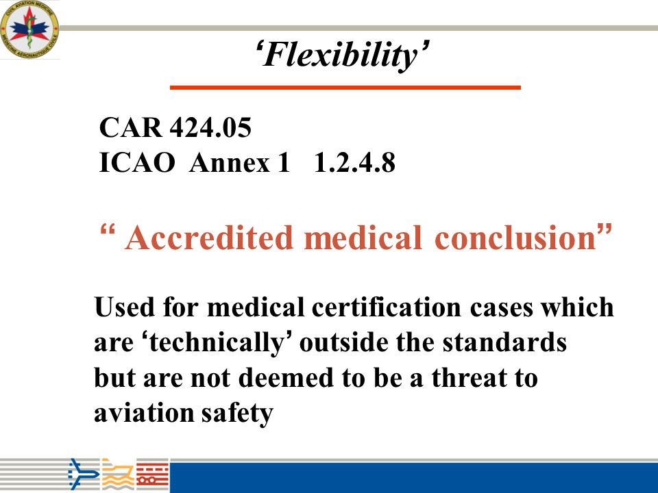 Accredited medical conclusion