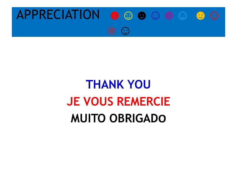 APPRECIATION ☻☺☻☺☻☺ ☻☺ ☻☺