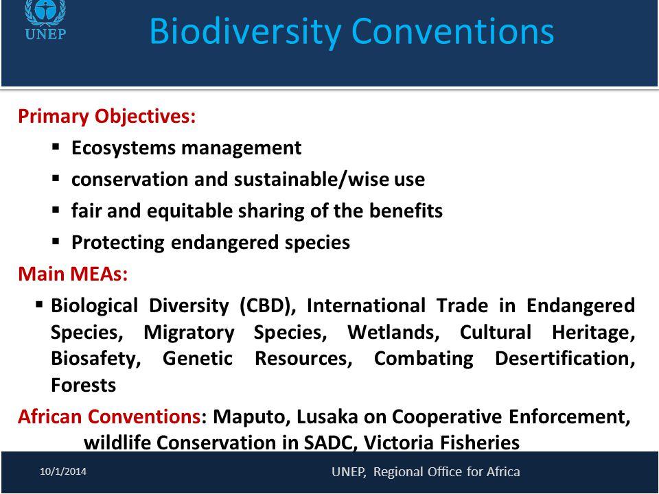 Biodiversity Conventions