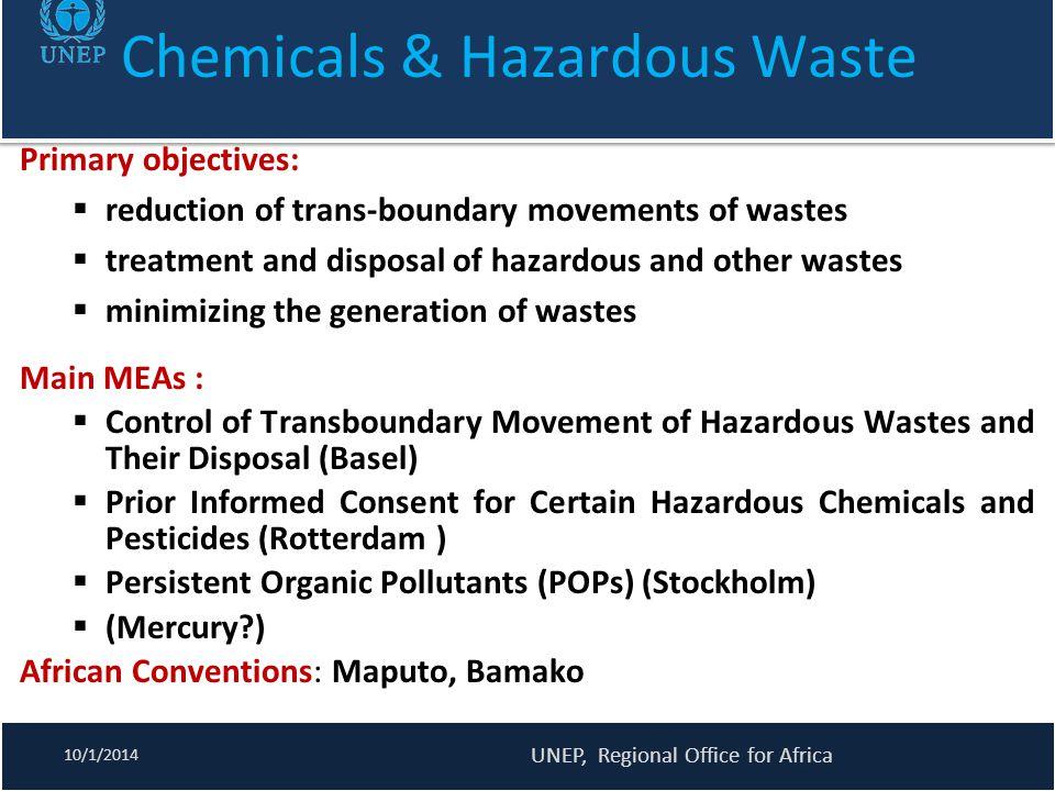 Chemicals & Hazardous Waste