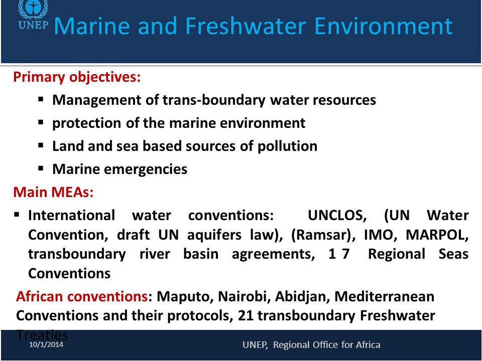 Marine and Freshwater Environment