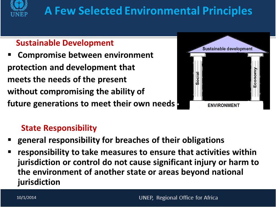 A Few Selected Environmental Principles