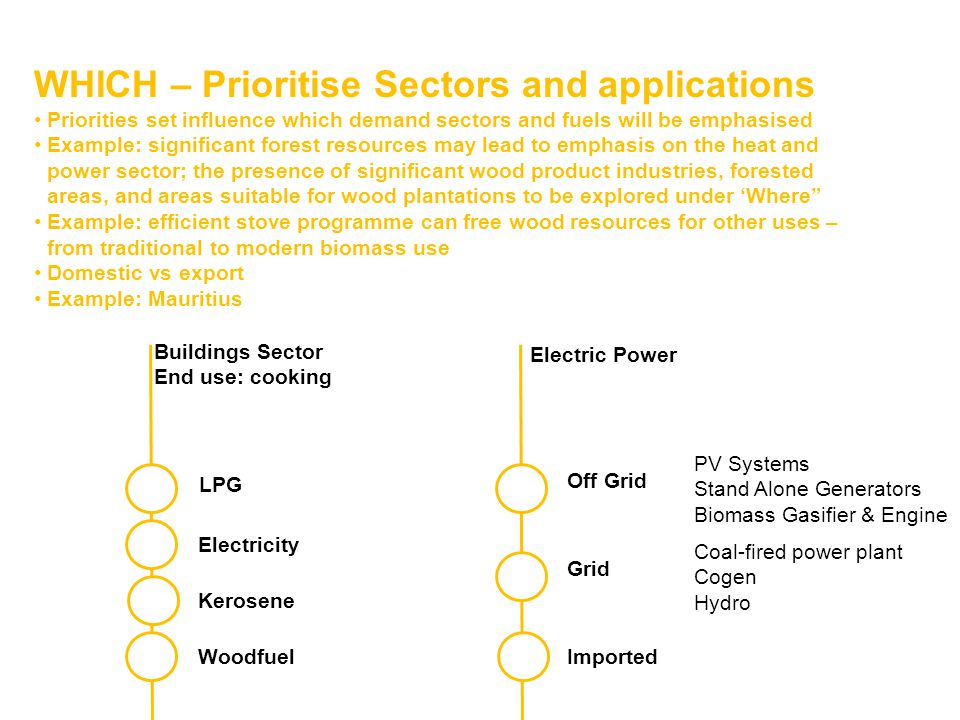 WHICH – Prioritise Sectors and applications
