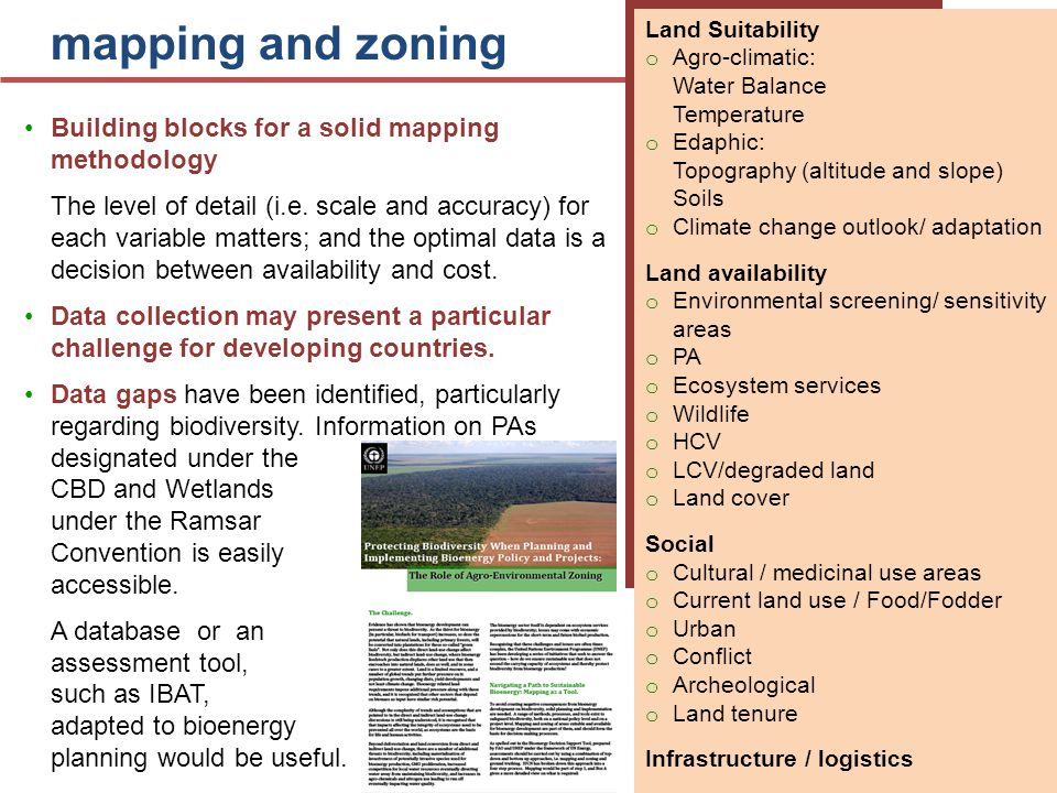 mapping and zoning Building blocks for a solid mapping methodology