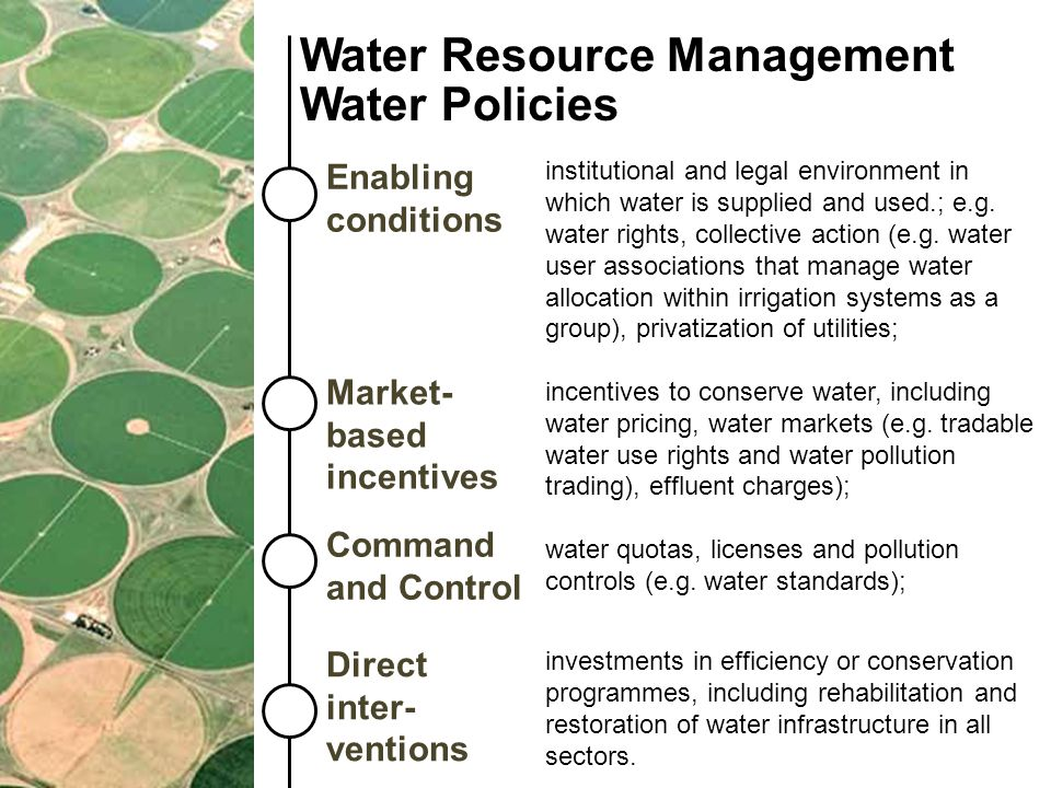 Water Resource Management Water Policies