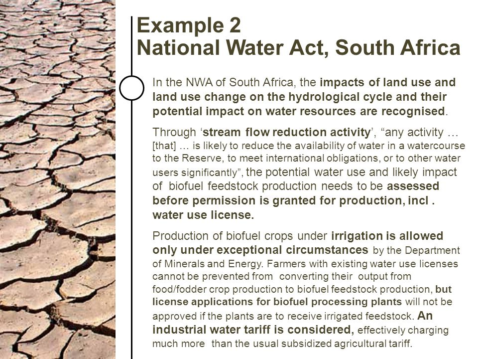 National Water Act, South Africa