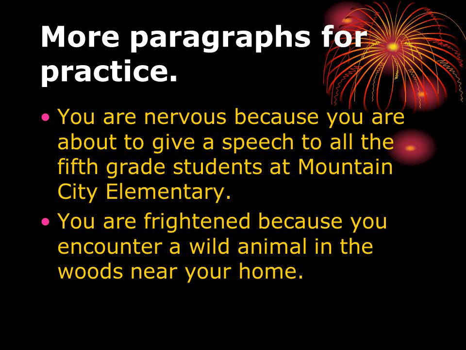 More paragraphs for practice.
