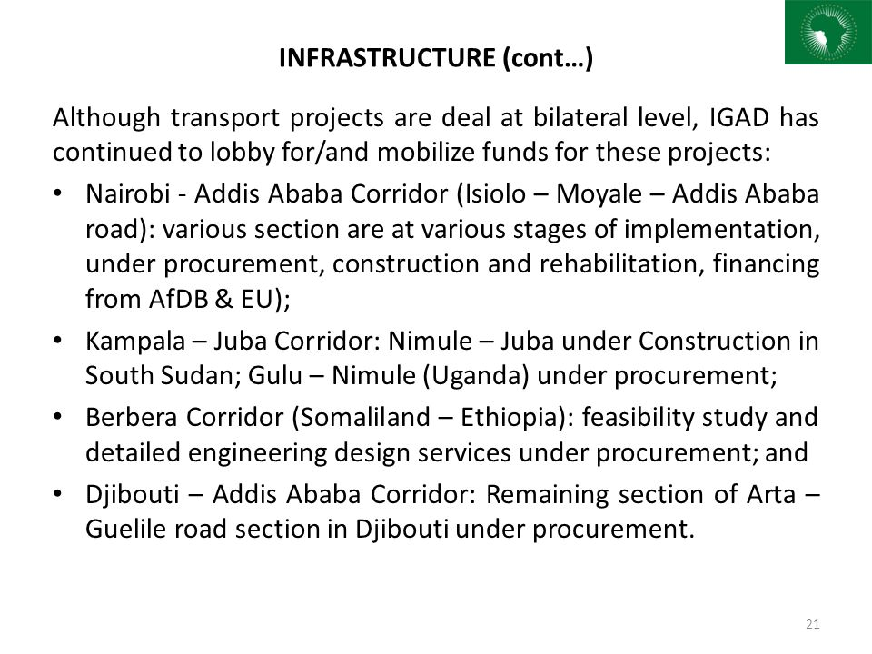 INFRASTRUCTURE (cont…)