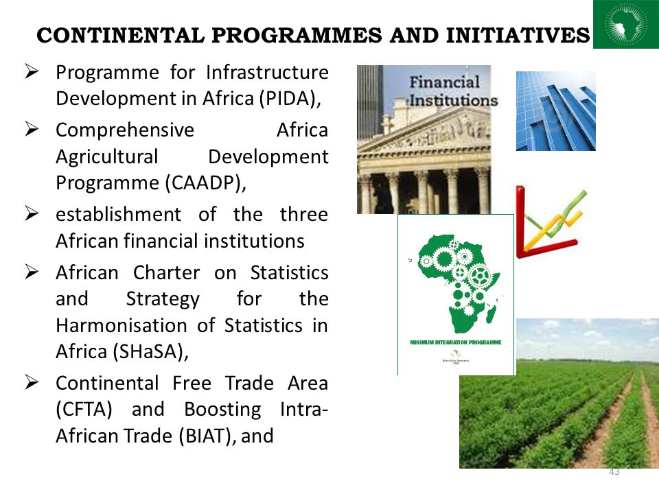 CONTINENTAL PROGRAMMES AND INITIATIVES