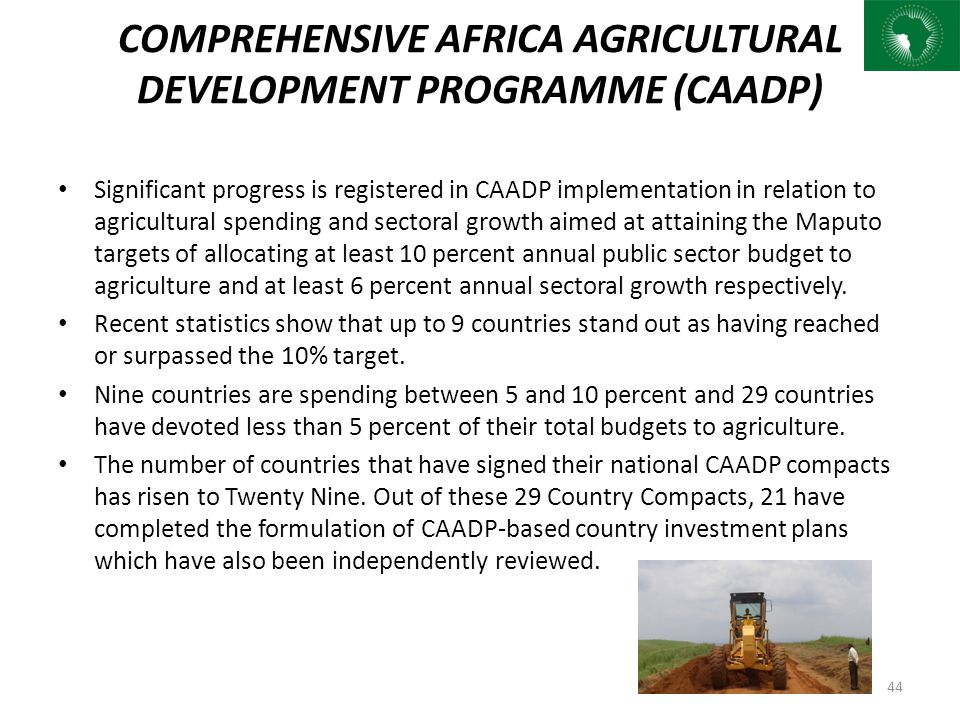 COMPREHENSIVE AFRICA AGRICULTURAL DEVELOPMENT PROGRAMME (CAADP)