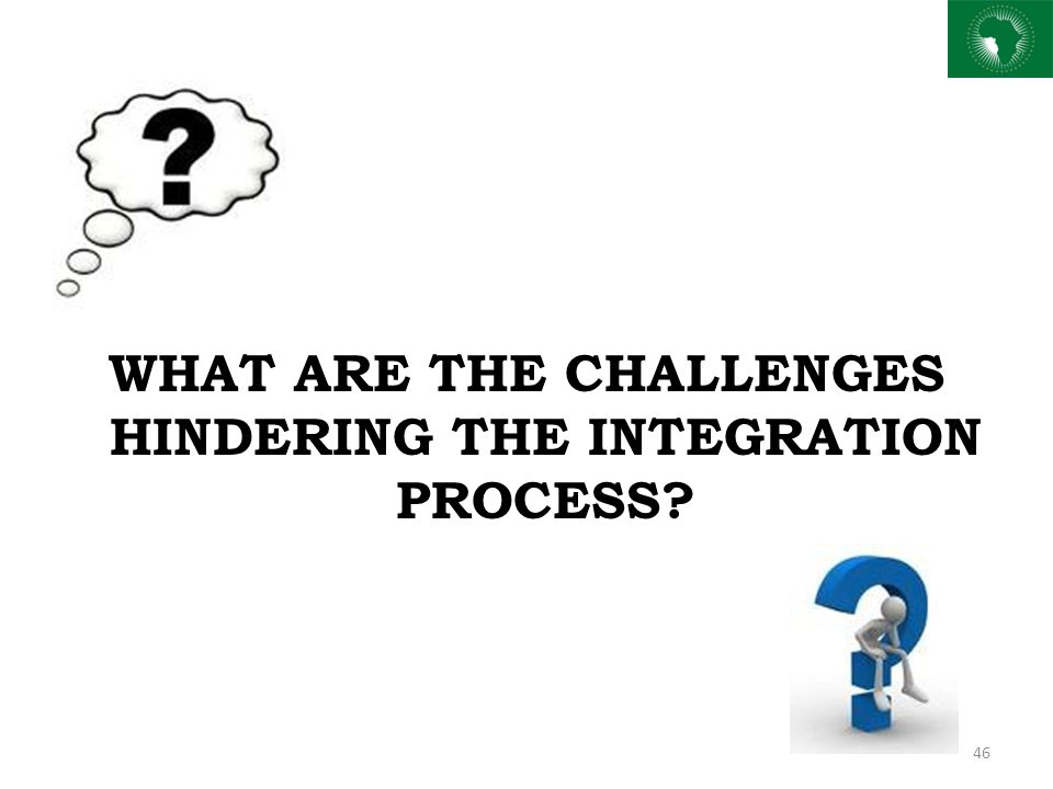 WHAT ARE THE CHALLENGES HINDERING THE INTEGRATION PROCESS