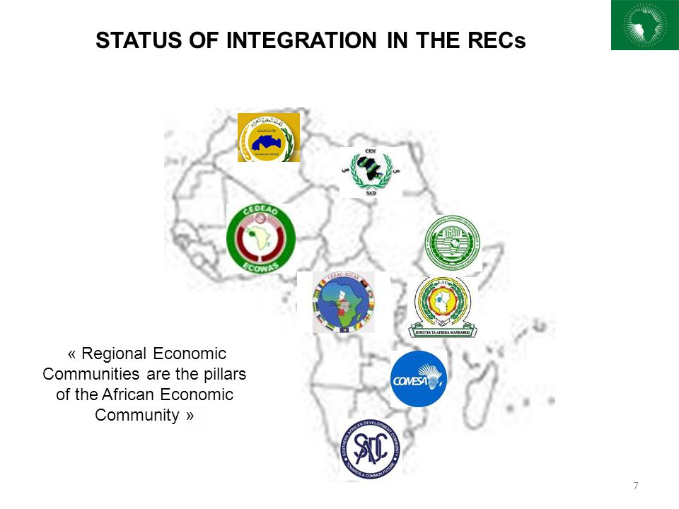 STATUS OF INTEGRATION IN THE RECs
