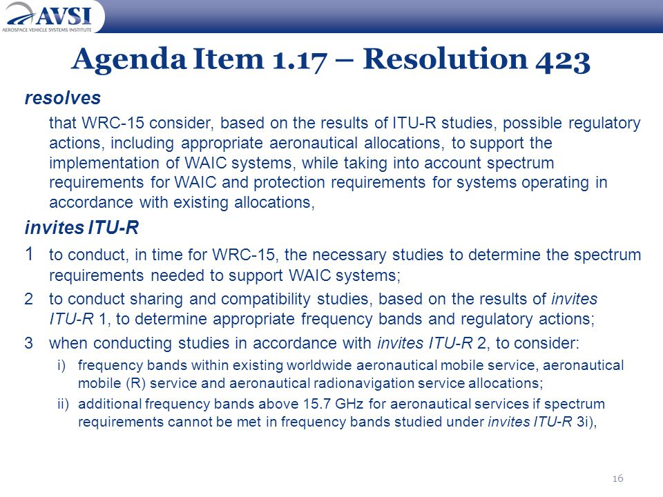 Agenda Item 1.17 – Resolution 423