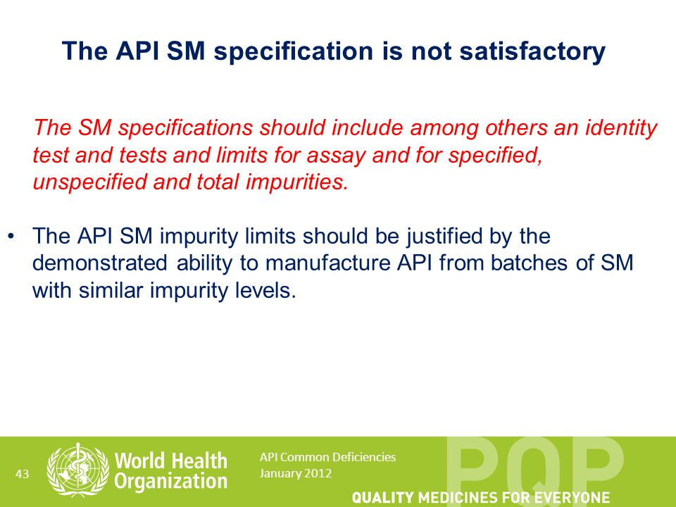The API SM specification is not satisfactory