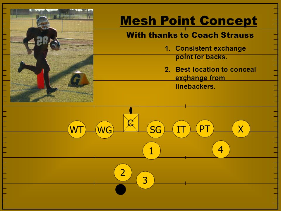 Mesh Point Concept C WT WG SG IT PT X 1 4 2 3