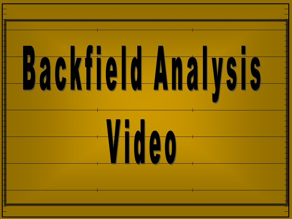 Backfield Analysis Video