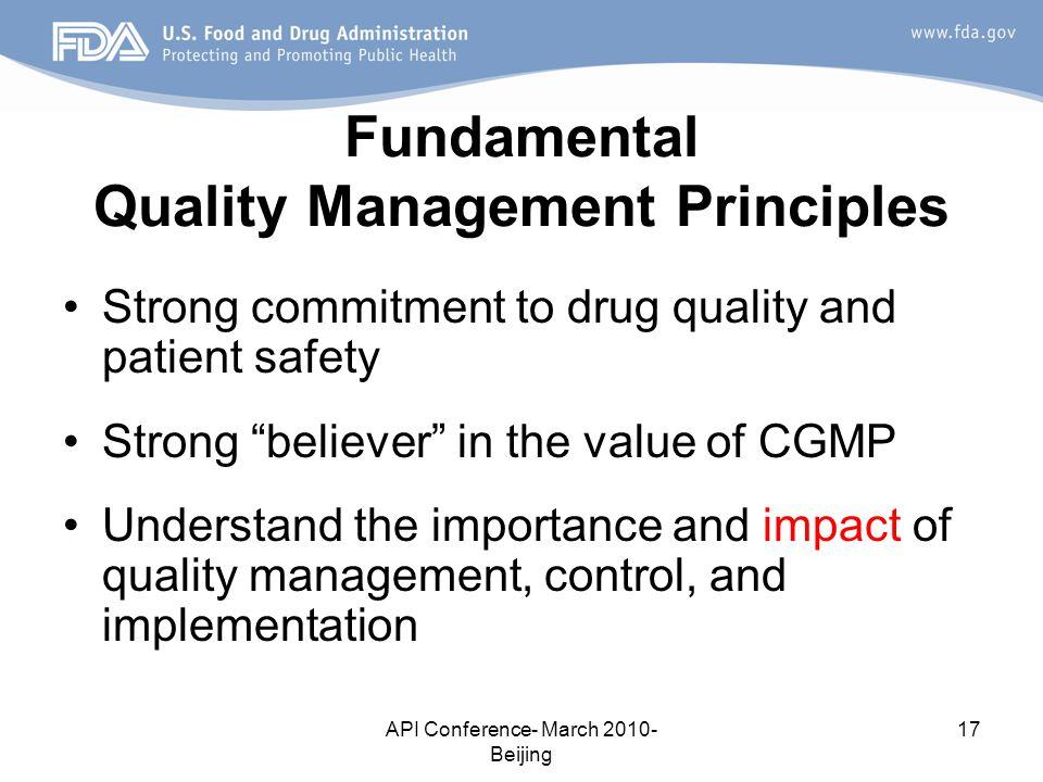 Fundamental Quality Management Principles