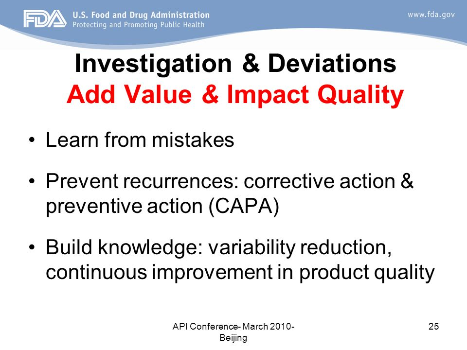 Investigation & Deviations Add Value & Impact Quality
