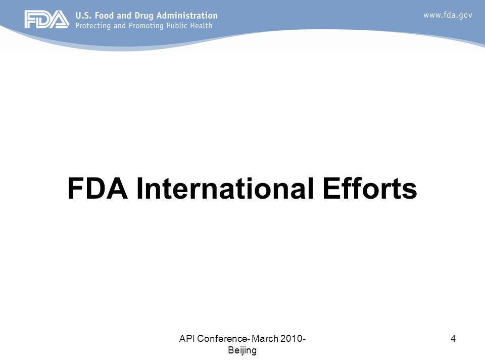 FDA International Efforts