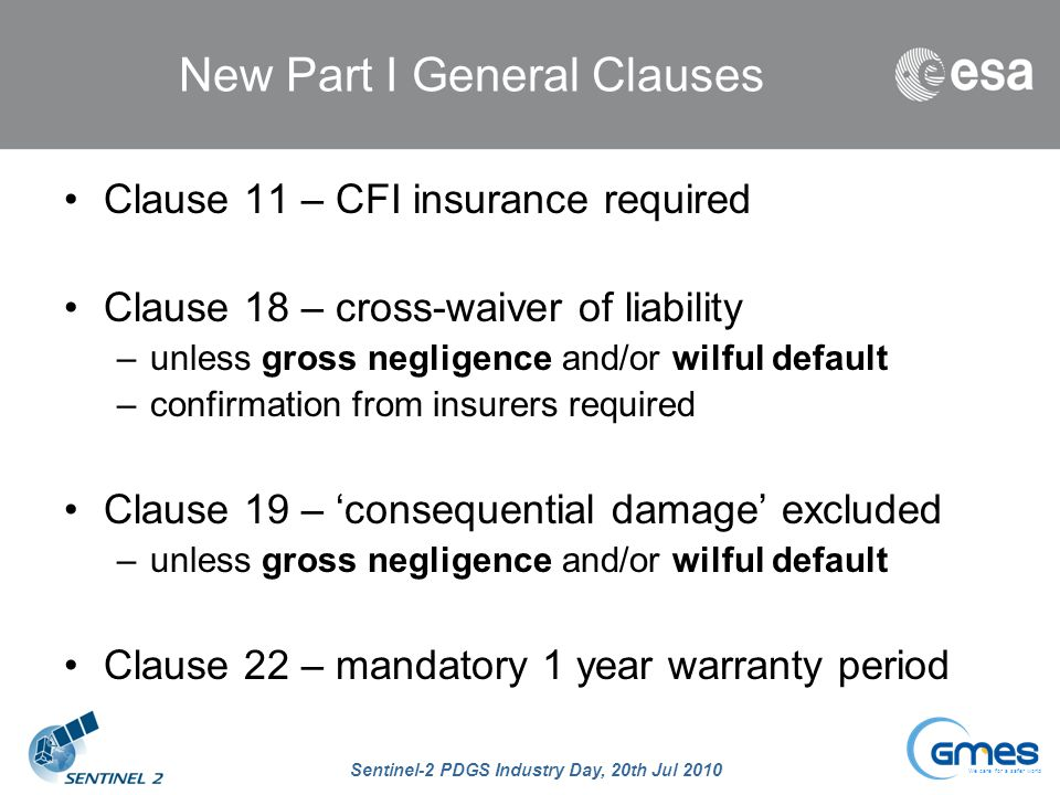 New Part I General Clauses
