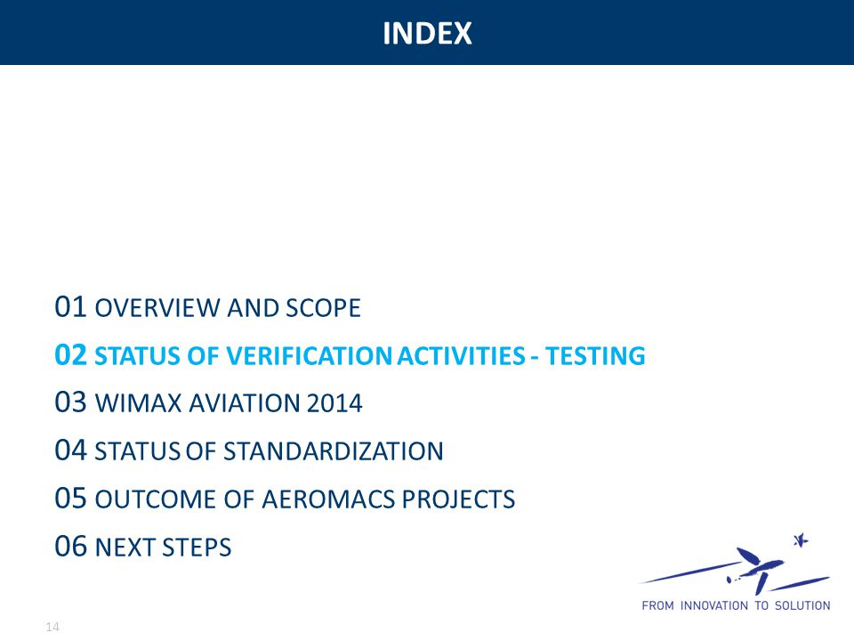 INDEX 01 OVERVIEW AND SCOPE