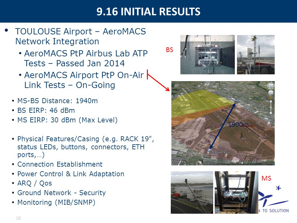 9.16 INITIAL RESULTS TOULOUSE Airport – AeroMACS Network Integration