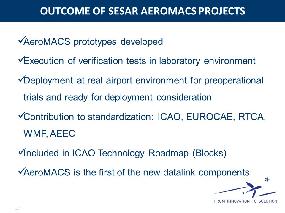 OUTCOME OF SESAR AEROMACS PROJECTS